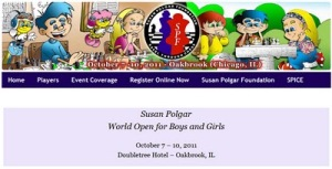 Susan Polgar World Open for Boys and Girls 2011 October 7 – 10, 2011