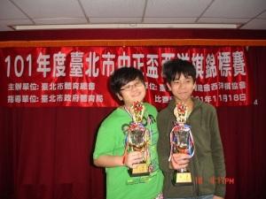 U16 1st / 2nd places: 石宇安 與李宣廷