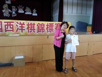 Aidan won the certificate