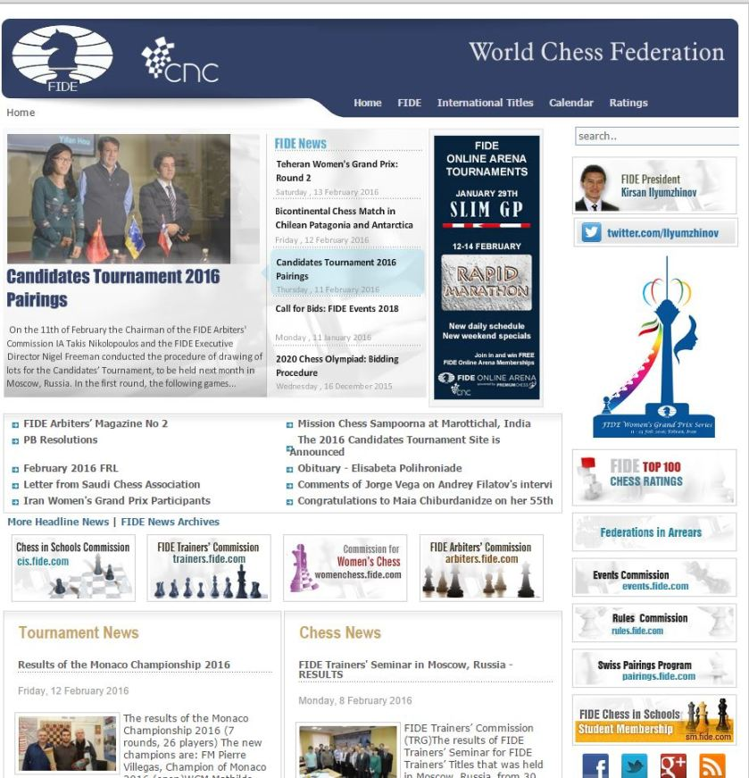 FIDE home page